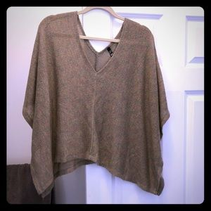 Sweaters - V neck sweater poncho